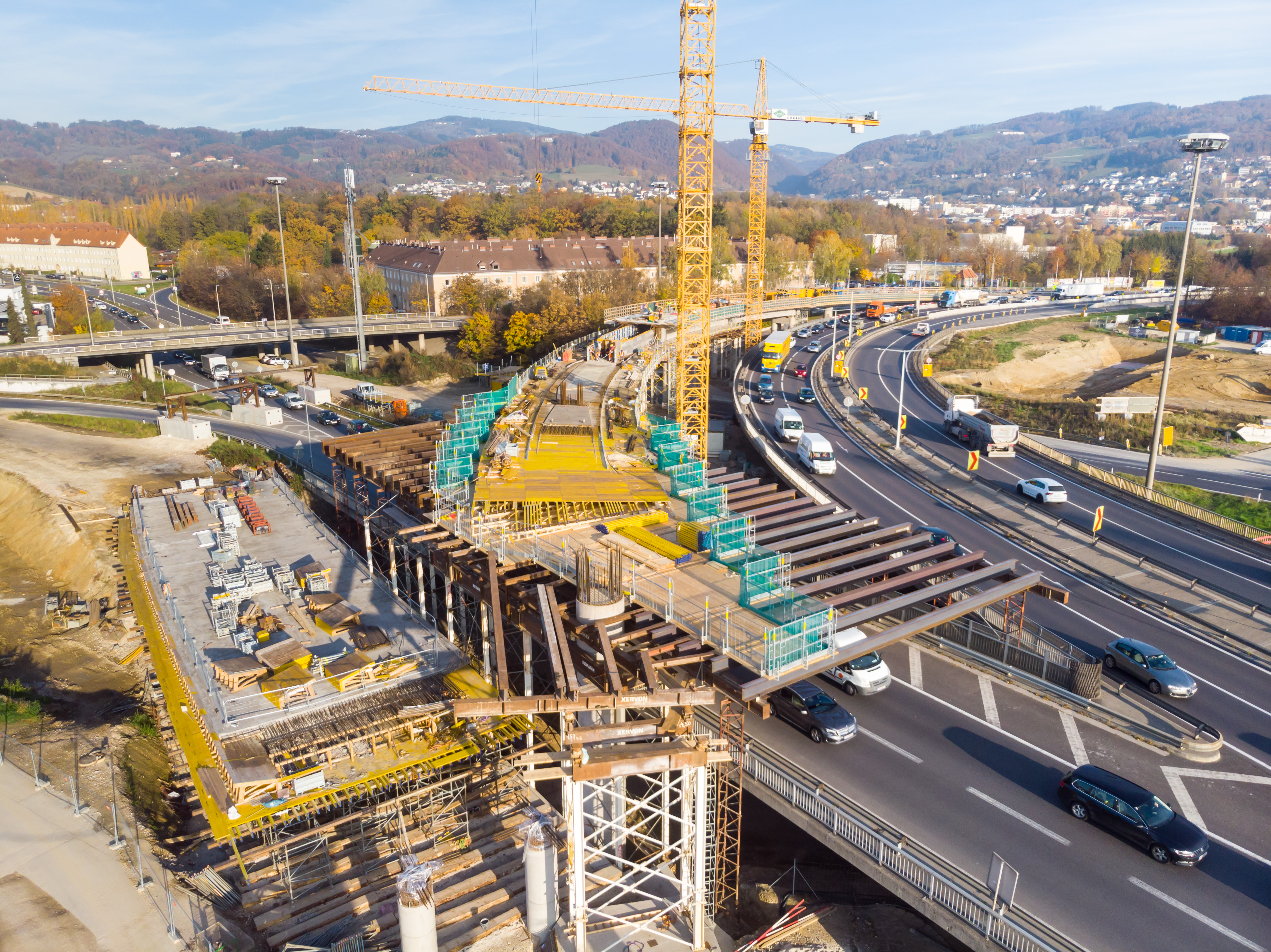 Linz A7 Bypassbrücken  - Construction de routes et de ponts
